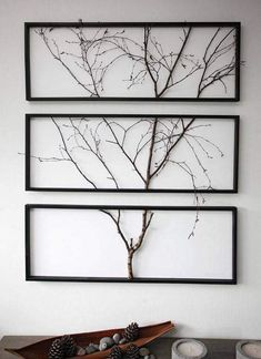 Split an actual tree branch in picture frame