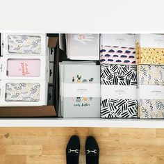 Really enjoying my sparkly new drawers in the the sparkly new studio! Organisation goals making packing orders so much easier