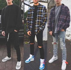 Left, Middle or Right? ‼️… Left, Middle or Right? Mode Masculine, Flannel Outfits, Red Flannel, Flannel Clothing, Vetement Fashion, Stylish Mens Outfits, Mode Streetwear, Mens Streetwear Fashion, Streetwear Shorts