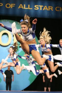 work it. worlds 2011 cheerleader, competitive cheerleading routine competition jump Cheer Jumps, Cheerleading Jumps, Cheer Stunts, Cheer Dance, Competitive Cheerleading, Softball Pictures, Cheer Pictures, Cheer Fails, Cheer Picture Poses