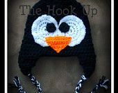 CROCHET PATTERN for my Arctic Penguin Beanie Includes 18m-3T  instructions  :)