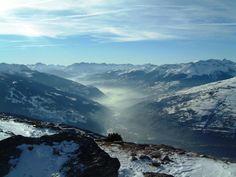 The Tarentaise Valley from Les Arcs Haute Savoie - beautiful #ski #snow