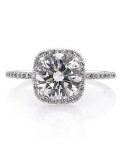 engagement ring.  I'm almost not negative I would pass out if this was given to me.   Love. Cushion. Diamond Band.