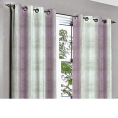 Soul Purple & Silver Waves Grommet Blackout by TheHomeCentric