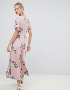 Oasis | Oasis jumpsuit with split leg in floral print