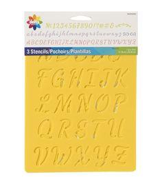 Delta Creative 7x10 Alphabet Stencil 3pk