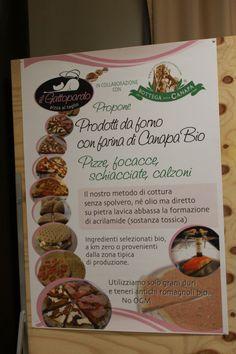 Prodotti da forno con farina di #canapa bio realizzati da Il Gattopardo Pizza al taglio a Cesena - Antica Fiera della Canapa #Gambettola 22 Novembre 2014