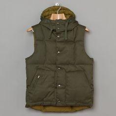 Engineered Garments / Down Vest Hoody (Olive)