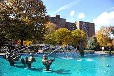 The Parkchester Oval fountain