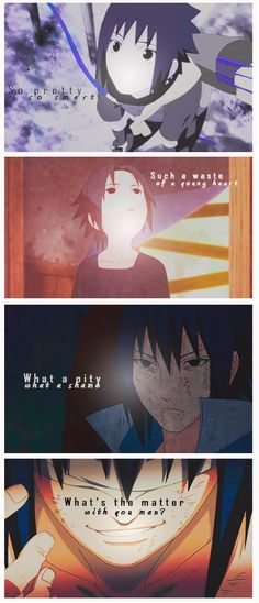 Sasuke-kun. I'm so glad he's returned to team 7, and finally realized all of Itachi's tactical loving work he did for the sake of not just the Village, but Sasuke himself.