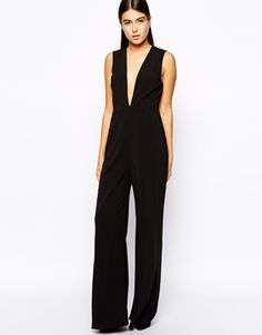 d6a45e9a7a44 AQ AQ Willow Jumpsuit with Plunge Neck at asos.com
