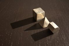 Geometric Paper Weight Set Cast in Pewter by MindoverMinimalism, $35.00