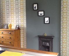 Johnstones paint steel smoke Mustard And Grey Bedroom, Johnstones Paints, Grey Feature Wall, Smoke Painting, Living Room Paint, Living Rooms, Master Bedroom, Gallery Wall, Steel