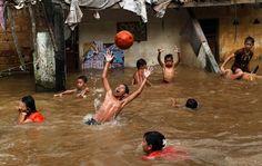 Little water never got anyone down in Jakarta!