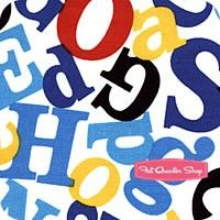 Celebrate Seuss 3 Black and Blue on White Tossed Letters YardageSKU