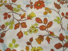 Vintage 1960s/ 70&-39-s Stretch Cotton Jersey Dress Fabric Retro ...