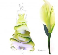 Fashion Illustrator Grace Ciao has created these lovely dress designs using flower petals. They look so good. Every girl would love to have dresses like these. We salute the talent of Grace Ciao! Grace Ciao, Moda Floral, Flower Petals, Flower Art, Java Chip, Illustration Mode, Design Illustrations, Fashion Illustrations, Illustration Fashion