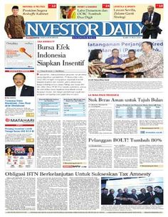 Investor Daily - 27 Juli 2016 | Bursa Efek Indonesia Siapkan Insentif | Investor Daily
