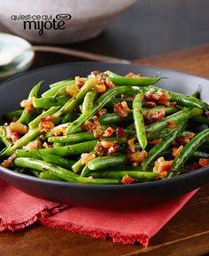 Salade de haricots verts frits à sec #recette