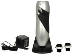 Electric Wine Preserver - Item 1519-This Electric wine Preserver is rechargeable and comes with 2 wine stoppers, a stand, power adaptor and instructions.