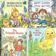 4 Vintage Children's Easter Books  $15. w/free shipping