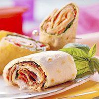 Wraps met roomkaas en ham   Op zoek naar een snelle lunch?