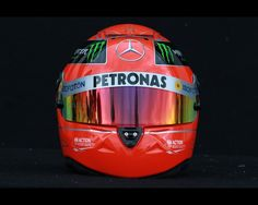 The drivers helmet of Michael Schumacher of Germany and Mercedes GP is seen during previews to the Australian Formula One Grand Prix at the Albert Park circuit on March 15, 2012 in Melbourne, Australia.