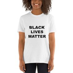 Black Lives Matter T- Shirt - 1 Dollar of Sales Donated to Charity or Family of George Floyd Womens Birthday Shirt, Birthday Shirts, Usa Shirt, Feminist Shirt, 4th Of July Outfits, Happy Women, Unisex, Printed Shorts, T Shirts For Women