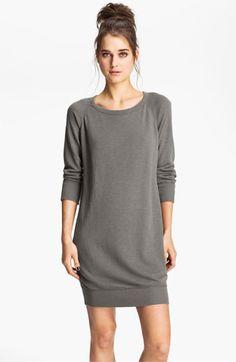 James Perse Raglan Sleeve Sweatshirt Dress available at #Nordstrom