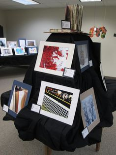"""Photos from """"Snapped!"""" a Photography Club for teens are displayed at AMPL's 2013 Spring Teen Art Exhibit Opening."""