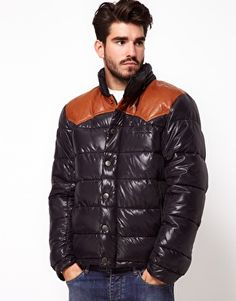 Pepe Heritage Quilted Jacket With Contrast Yoke and Hood $325.42