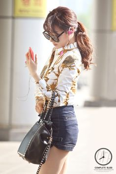 Tiffany Hwang SNSD airport fashion may 2014