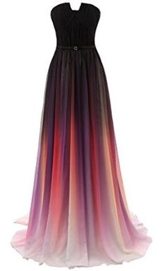 Gradient Chiffon Formal Evening Dresses Long Party Prom Gown
