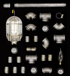 black iron plumbing pipe lamp | PM Saturday: Build This Rugged Iron Pipe Lamp | Black Tmz for Articles