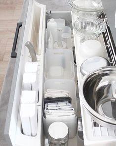 Media?size=l Kitchen Cabinet Organization, Kitchen Drawers, Kitchen Pantry, Home Organization, Kitchen Storage, Kitchen Cabinets, Organizing, Organized Kitchen, Muji Storage