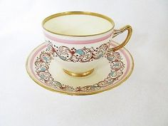 Antique Footed Tea Cup and Saucer Set Adderley Best Bone China England