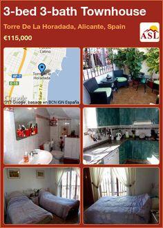 3-bed 3-bath Townhouse in Torre De La Horadada, Alicante, Spain ►€115,000 #PropertyForSaleInSpain