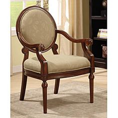 Roll Arm Chair Taupe Leaf This look fancy. I wonder if it would be comfortable.