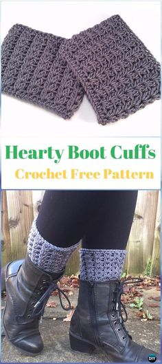 Crochet Cutie Pie Cuffs Free Pattern - Crochet Boot Cuffs Free ...