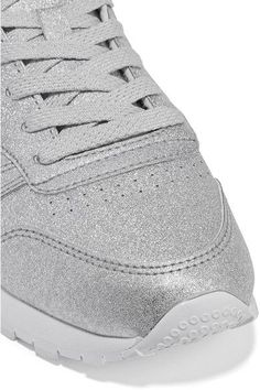 Reebok - Classic Metallic Leather Sneakers - Silver - US5.5
