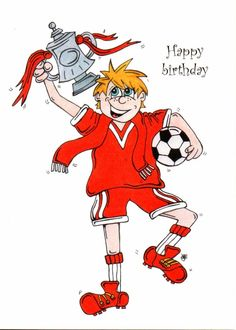 football birthday cards - Google Search