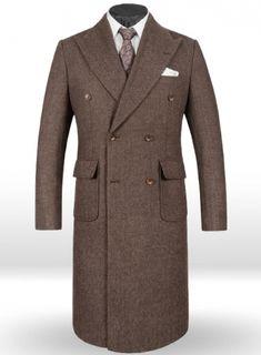 Musto Vintage Herringbone Dark Brown Tweed Overcoat : StudioSuits: Made To Measure Custom Suits, Customize Suits, Jackets and Trousers Tweed Overcoat, Linen Suit, Tweed Fabric, Top Coat, Dress Codes, Herringbone, Menswear, Custom Suits, Dark Brown
