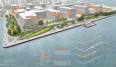 Finalists reveal design concepts for Pier 8 Promenade Park Design Competition #design #competition #landscape #architecture #waterfront #concept