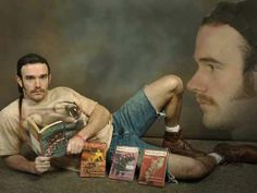 He's perfect; loves reading, dogs, the outdoors and has a kick-ass pair of cut-offs. Sweee-et!