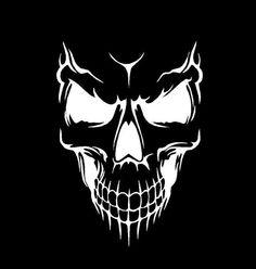 Evil Skull - Vinyl Decal