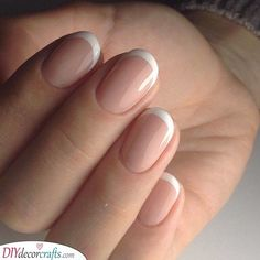 A Standard Manicure Simple French Nail Designs A Standard Manicure . - A Standard Manicure Simple French Nail Designs A Standard Manicure – A Standard Manicure Simple F - Short French Nails, Short Gel Nails, Nail French, French Manicure Nails, Manicure E Pedicure, Manicure Ideas, Cute Nails, Pretty Nails, My Nails