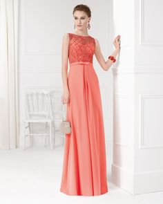 Beaded chiffon dress and shawl. Available in green, grey, coral and red. Coral Bridesmaid Dresses, Coral Dress, Lace Dress, Chiffon Gown, Beaded Chiffon, Beautiful Gowns, Special Occasion Dresses, Short Dresses, Dresses 2016