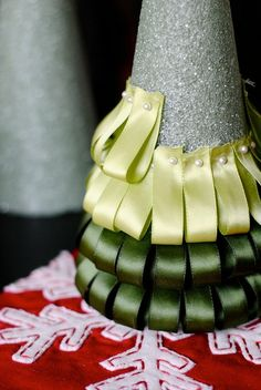 Ribbon Christmas Tree - Step