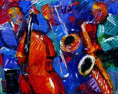 Abstract Jazz painting art music paintings by Debra Hurd
