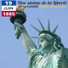 Le 19 juin 1885, une frégate française entre dans le port de New York. Dans ses cales les 350 pièces de la future Statue de la Liberté qui seront assemblées sur place. La statue est le cadeau de la République française aux Etats-Unis d'Amérique pour célébrer l'entente franco-américaine née de la guerre d'Indépendance. Réalisée par le sculpteur français Bartholdi, elle est inaugurée le 28 octobre 1886.